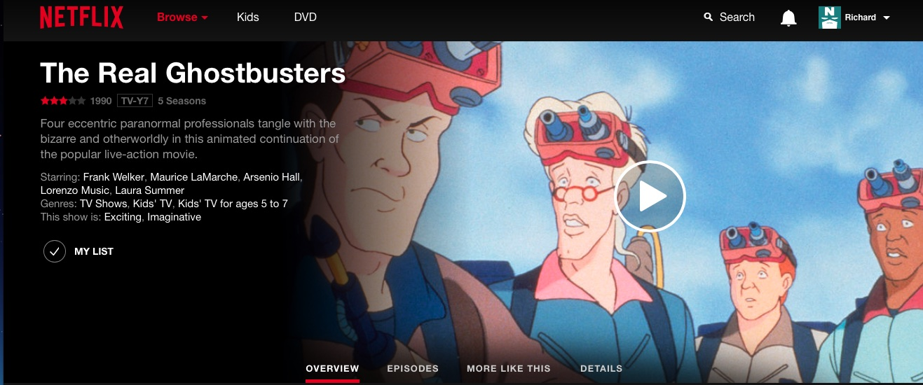 The Real Ghostbusters Stream